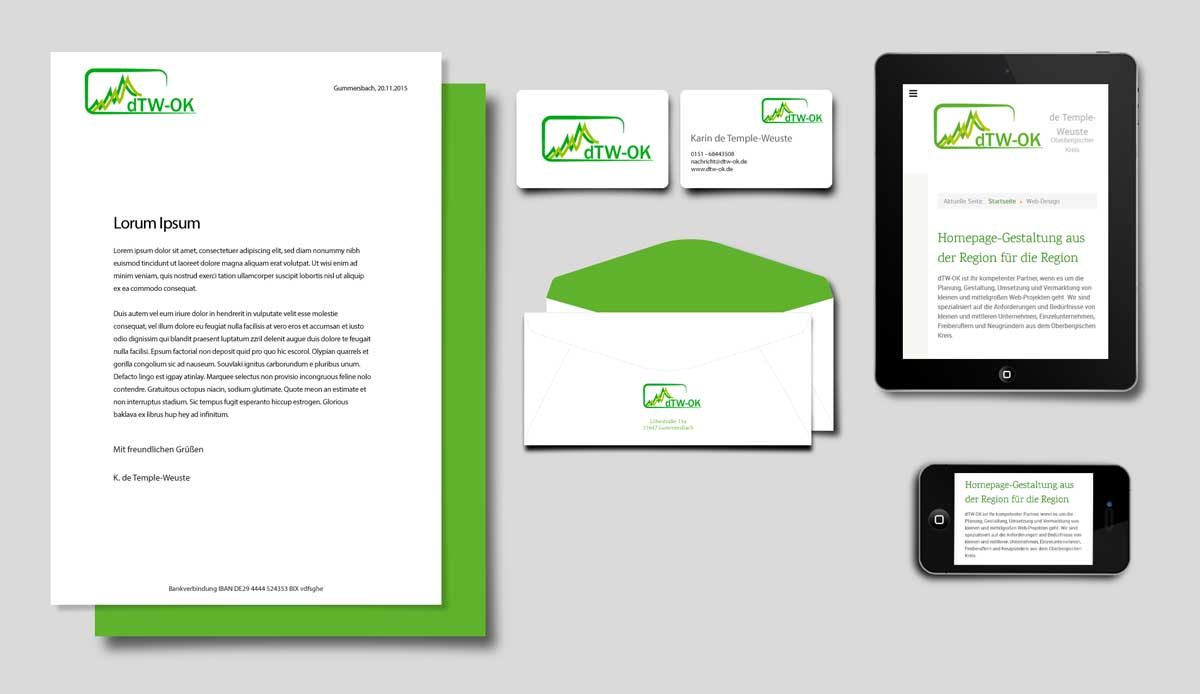 dTW-OK Corporate Design Elemente